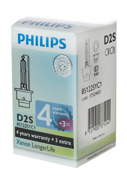 Philips D2S 85122SYC1 Xenon Brenner Longer Life 4 + 3 Jahre Garantie