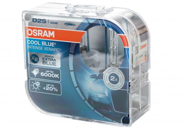 OSRAM D2S 66240 CBI Cool Blue Intense Xenarc mit 6000 Kelvin DuoBox (2 Stück)