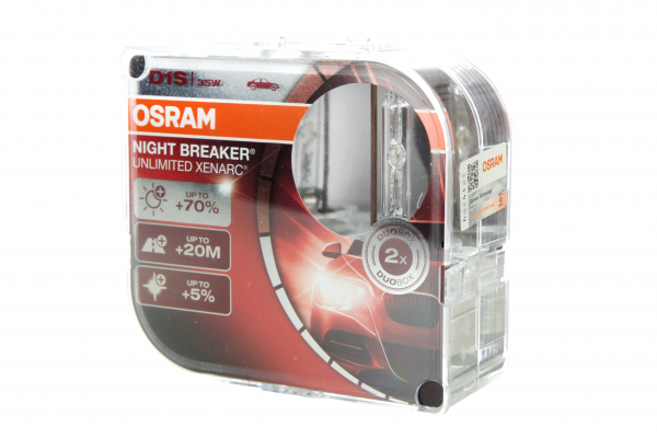 OSRAM D1S 66140XNB Night Breaker Unlimited XENARC Duo Pack (2 Stück)