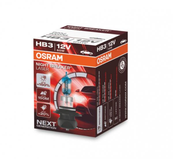Osram HB3 9005NL Halogen Lampen Night Breaker Laser +150% NEXT Generation