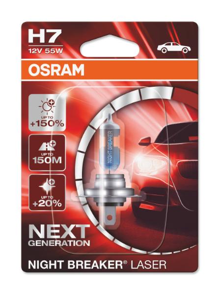 Osram H7 64210NL Halogen Lampe Night Breaker Laser +150% NEXT Generation