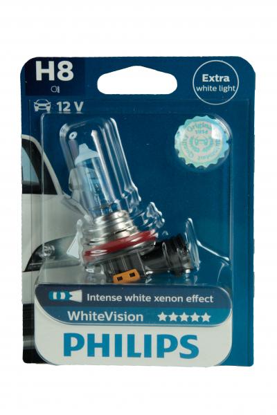 Philips H8 WhiteVision Halogen Lampe Scheinwerferlampe