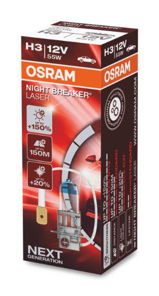 Osram H3 64151NL Halogen Lampe Night Breaker Laser +150% NEXT Generation