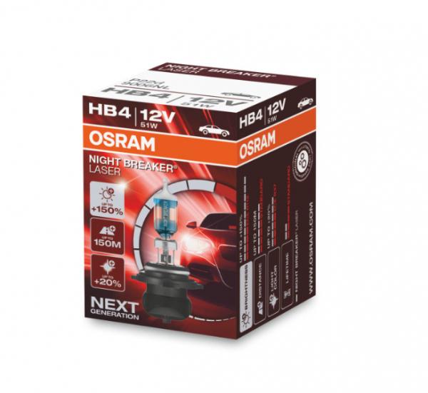 Osram HB4 9006NL Halogen Lampen Night Breaker Laser +150% NEXT Generation
