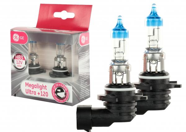GE General Electric HB3 Megalight Ultra +120% mehr Licht Scheiwerferlampen (2 Stück) - Rückläufer
