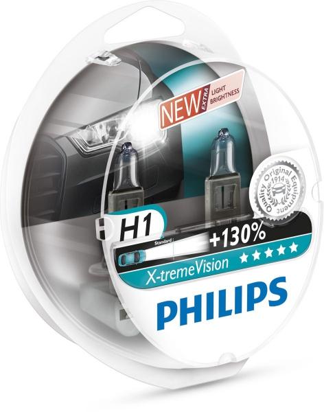 Philips H1 12258XVS2 X-treme Vision +130% Scheinwerferlampen Duo Box (2 Stück)