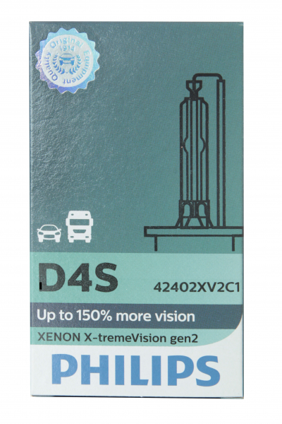 Philips D4S 42402XV2 X-treme Vision Xenon Gen2 Xenon Brenner in C1 oder S1 Verpackung