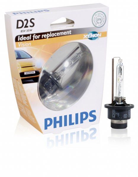 Philips D2S 85122 VIS1 Vision Xenon Brenner in S1 Verpackung