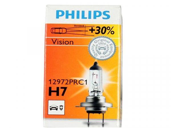 Philips H7 12972 C1 Vision +30% mehr Licht Halogen Scheinwerferlampe