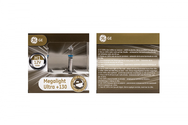 GE H1 50310XNU General Electric Megalight Ultra +130% mehr Licht 12V 51W Duo-Box (2 Stück)