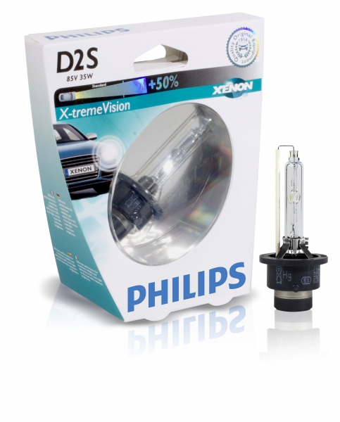 Philips D2S 85122 XVS1 X-tremeVision Xenon Brenner in S1 Verpackung