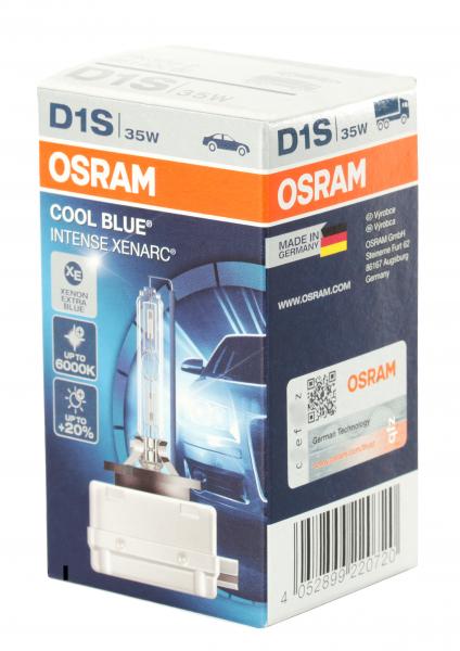 OSRAM D1S 66140 CBI Cool Blue Intense XENARC bis zu 6.000 Kelvin