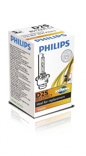 Philips D2S 85122VIC1 Vision Xenon Brenner in C1 Verpackung