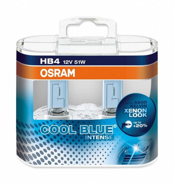 Osram HB4 CBI Cool Blue Intense Halogen Lampen Duo-Box (2 Stück)