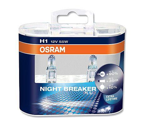 Osram H1 64150NBP Night Breaker PLUS Halogen Lampen Duo-Box (2 Stück)