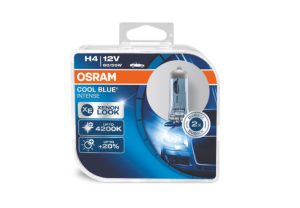 Osram H4 64193 CBI Cool Blue Intense Halogen Lampen DuoBox (2 Stück)