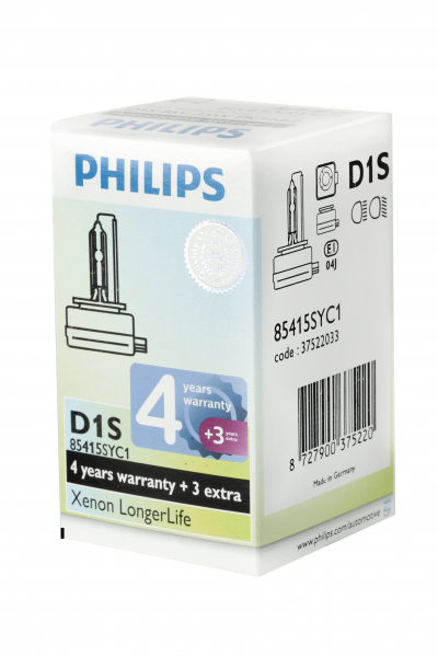 Philips D1S 85415SYC1 Xenon Brenner Longer Life