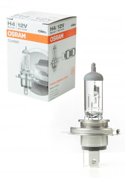 Osram H4 Classic Halogen Scheinwerferlampe 12V 60/55W
