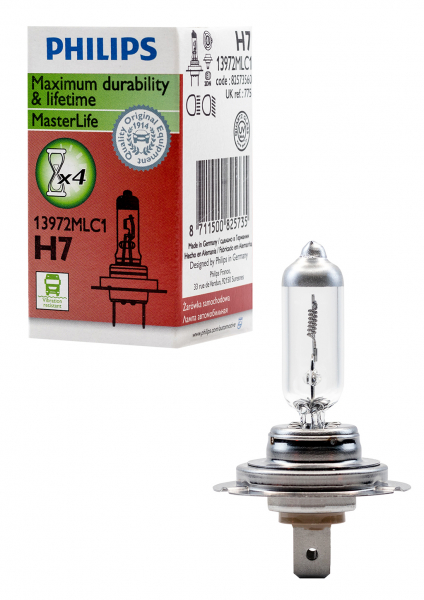 Philips H7 24V 70W 13972MLC1 MasterLife Halogen Lampe