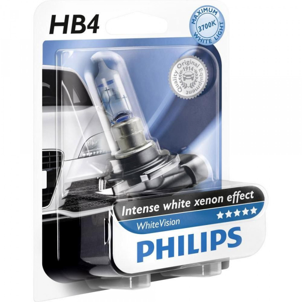 Philips HB4 9006 WHVB1 White Vision Scheiwerferlampe Intense white xenon effect