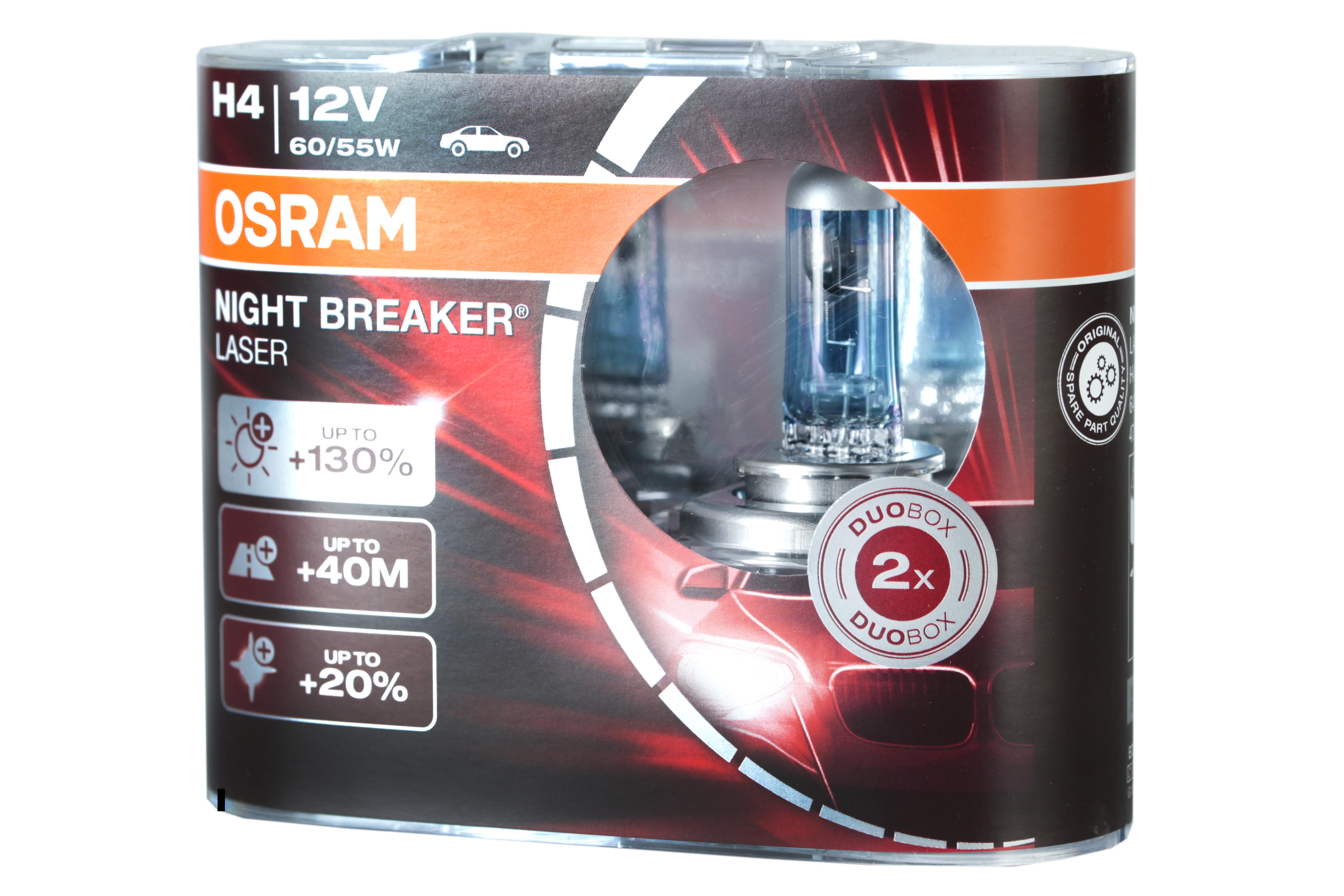 osram h4 nbl night breaker laser halogen lampen hk. Black Bedroom Furniture Sets. Home Design Ideas
