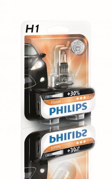 Philips H1 12258PRB1 Vision +30% Scheinwerferlampe