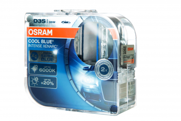 OSRAM D3S 66340 CBI Cool Blue Intense Xenarc mit 6000 Kelvin DuoBox (2 Stück)